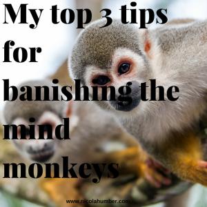My top 3 tips for banishing the mind monkeys