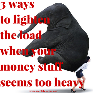 3 ways to lighten the load when your money